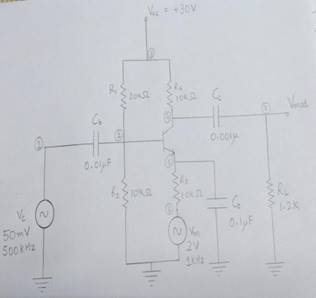 Amplitude Modulation Circuit Diagram | Amplitude Modulation And Demodultion Using Bjt Amplifier And Diode