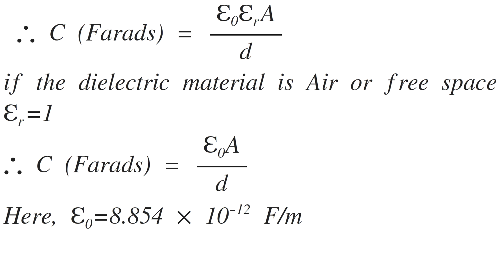 Capacitor Charge Equations Electronics Tutorial Capacitance Charging And Discharging Of A In The Circuit Below By Application Battery Potential Will Be Fully Charged Upto Voltage 10 V This Is Because