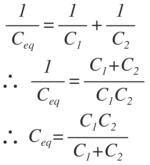 capacitors in series combination