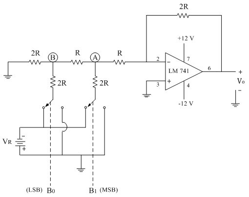 r 2r ladder dac analog integrated circuits electronics tutorial RC Circuit the typical value of feedback resistor is rf \u003d 2r the resistance r is normally selected any value between 2 5 k� to 10 k�