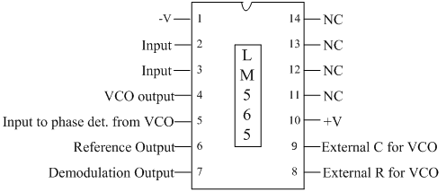pll ic 565 analog integrated circuits electronics tutorial rh electronics tutorial net Block Diagram Charge Pump PLL PLL Block Diagram Waveform