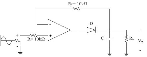 peak detector analog integrated circuits electronics tutorial rh electronics tutorial net Negative Peak Detector Circuit Negative Peak Detector Circuit