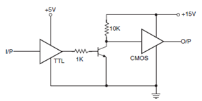 Cmos And Ttl Interfaces on pull up resistor