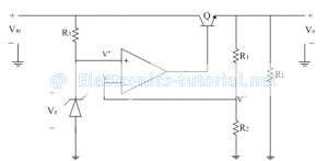 Series regulator using op-amp | Analog-integrated-circuits