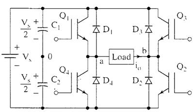 Mosfet Based Inverter Circuit Diagram   Single Phase Full Bridge Inverter Electronics Tutorial