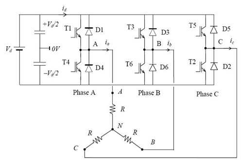 inverter24 three phase inverter electronics tutorial single phase to 3 phase converter wiring diagram at soozxer.org