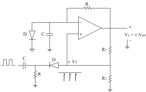 monostable multivibrator analog integrated circuits electronicsPrecision Monostable Multivibrator Circuit #6